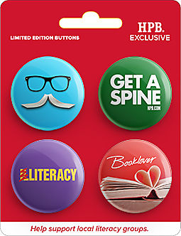 National Literacy Month Button 4-pack Proceeds benefit local literacy partners