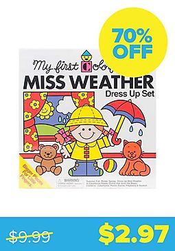 Miss Weather Colorforms Dress-Up Set