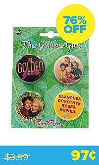 Golden Girls 4-Button Set