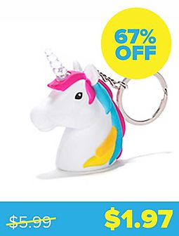 Unicorn LED Keychain