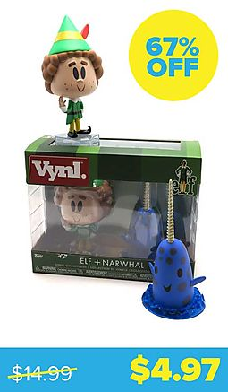 Elf Movie Buddy & Narwhal Vinyl Figures (2-Pack)