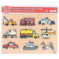 Emergency Vehicles Peg Puzzle
