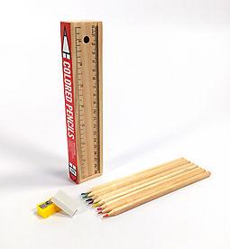 HPB Wooden Pencil Box (Set of 8 Colored Pencils)