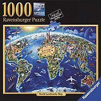 World Landmarks Map 1000pc Puzzle