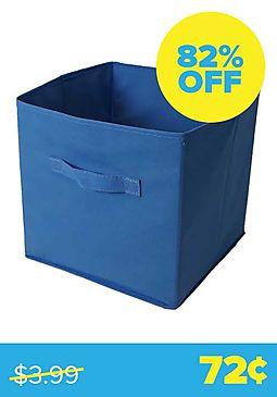 Blue Collapsible Storage Bin