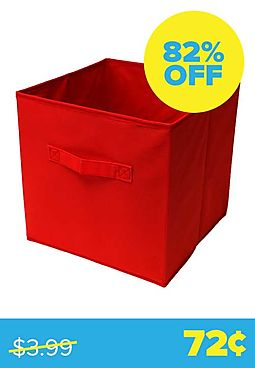 Red Collapsible Storage Bin
