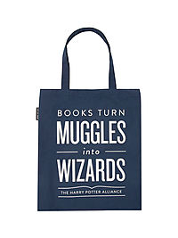Books-Turn-Muggles-Into Wizards Tote Bag