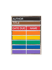 Library Card Pride Pin