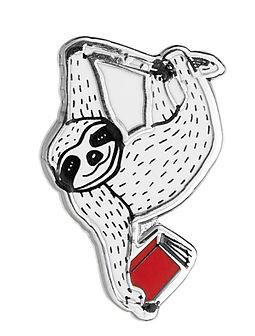 Book Sloth Enamel Pin