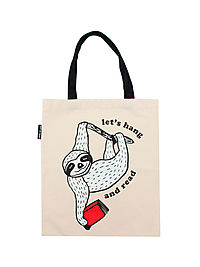 Lets Hang And Read Book Sloth Tote Bag