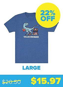 Velocireader T-shirt - Unisex Large