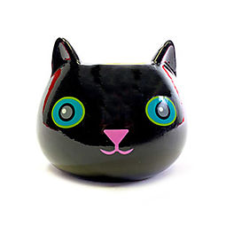 Black Cat Flower Pot